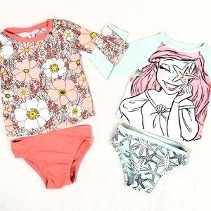 Baby Gap Rash Guard Swim Suits 3T Little Mermaid